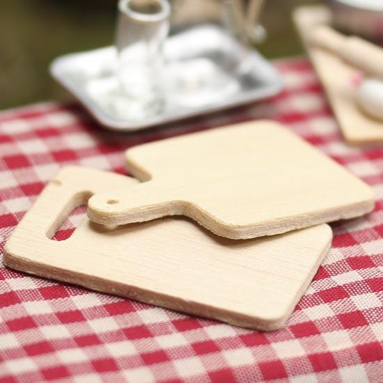 1:12 Dollhouse Face Point Making Table Mini Cutting Board Flour Pastry Station