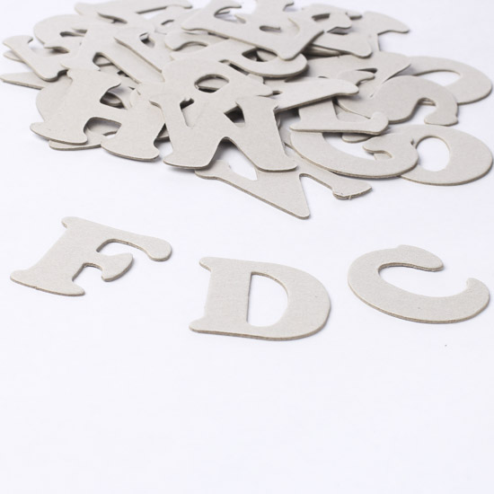 stylish chipboard letters word and letter cutouts