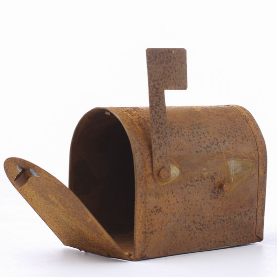 small primitive rusty tin mailbox what 39 s new dollhouse