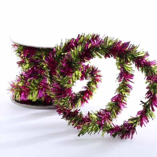 Mini twisted tinsel garland christmas and winter sale