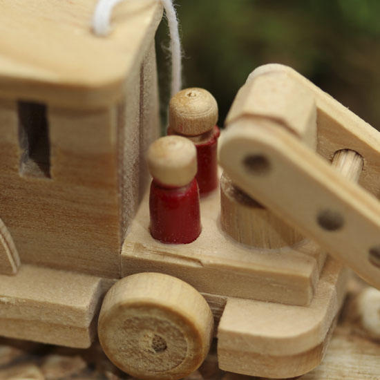 Miniature Wood Fire Truck Wood Miniatures Unfinished Wood Craft Supplies