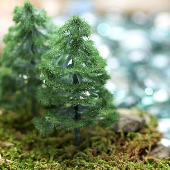 Miniature Artificial Christmas Trees: Miniature Artificial Pine Trees