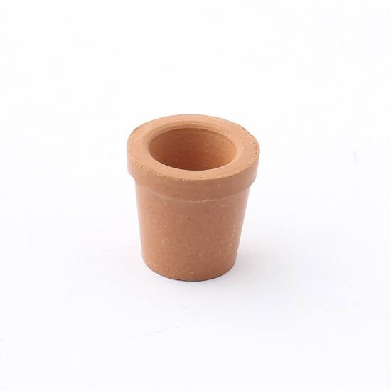 Miniature faux terra cotta flower pot what 39 s new for Small clay flower pots