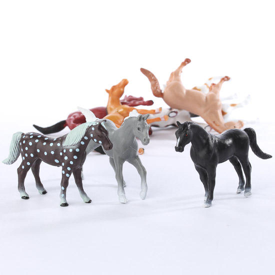Miniature Plastic Horses Animal Miniatures Dollhouse