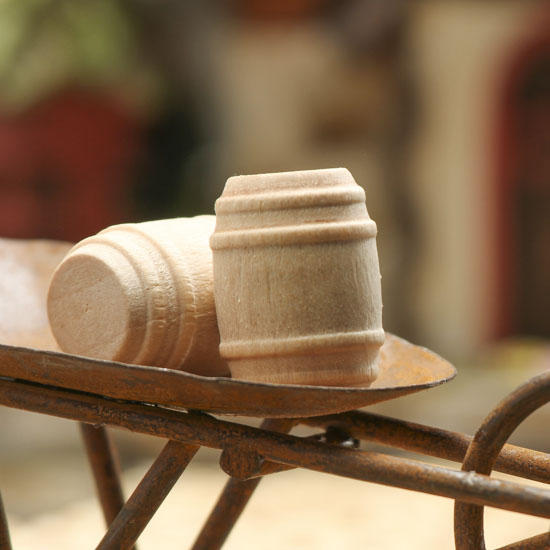 Miniature wood barrels wood miniatures unfinished wood for Wood craft supply stores