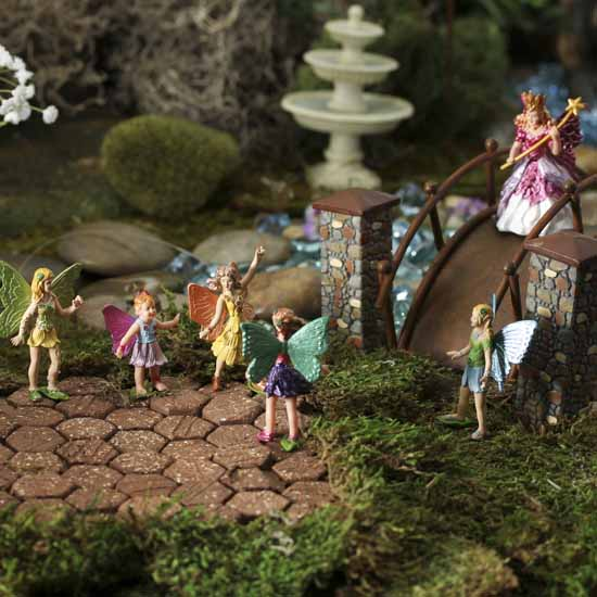 Miniature fairy figurines what 39 s new dollhouse Small garden fairies