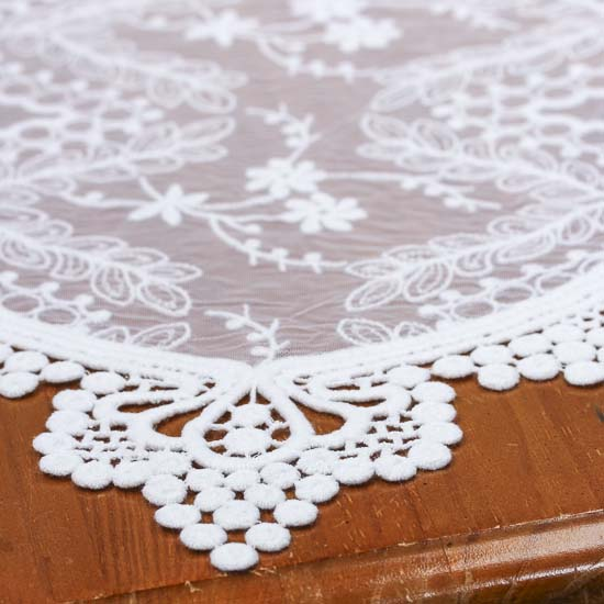 Vintage Inspired White Lace Table Runner