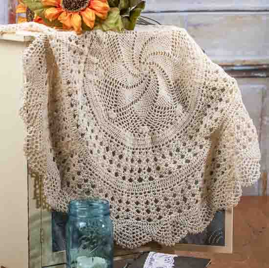 Crochet Round : Large Round Ecru Crocheted Doily - Crochet and Lace Doilies - Home ...