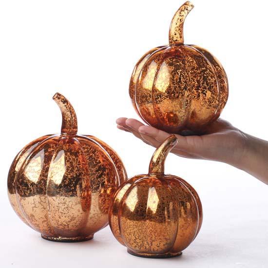 Mercury Glass Pumpkins Fall And Halloween Sale Sales