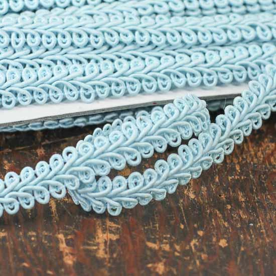 Light Blue Gimp Braid Trim Ribbon And Trims Craft Supplies
