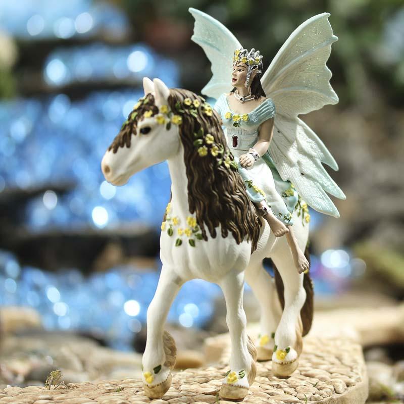 miniature eyela fairy with horse fairy garden miniatures