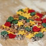Holiday Collection Itty Bitty Cutout Cookie Buttons