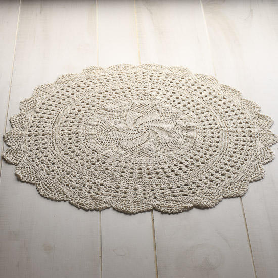 Large Round Ecru Crocheted Doily Crochet And Lace