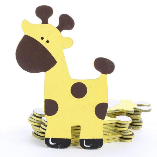 Finished Wooden Giraffe Cutouts