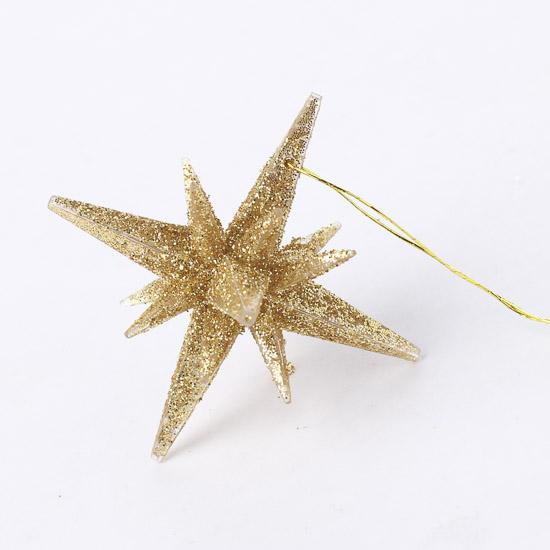 D gold star ornament christmas ornaments