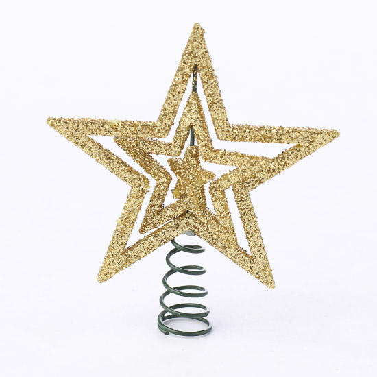Small gold star tree topper christmas miniatures