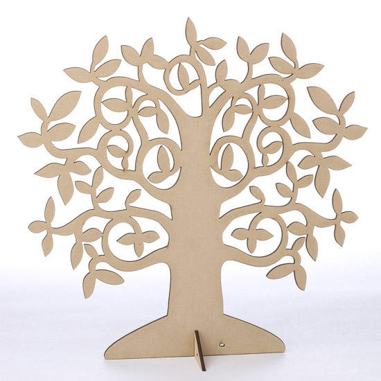 Laser cut wood tree centerpiece wood cutouts for Wood cutouts for crafts