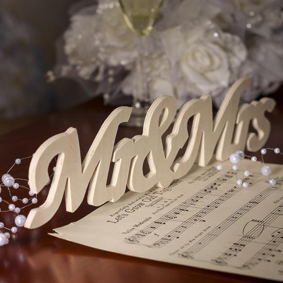 Quot Mr Amp Mrs Quot Wood Cutout Sign Word And Letter Cutouts
