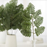Green Leather Artificial Fern Leaves
