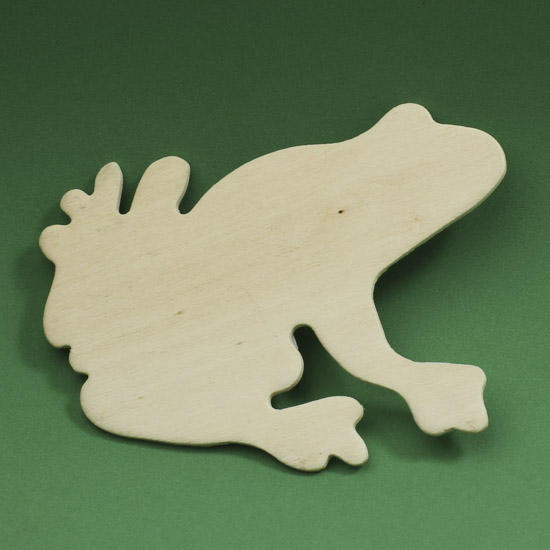 Unfinished Wood Frog Cutout Wood Cutouts Unfinished