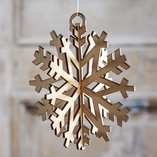 Dimensional Laser Cut Snowflake Ornament New Items