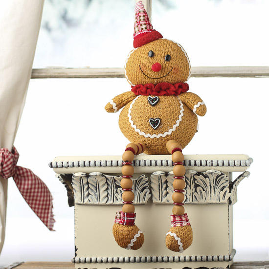 Shelf Sitter Gingerbread Man Table Decor Christmas And