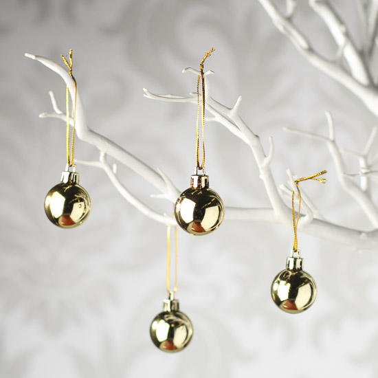 small gold classic ball ornaments christmas ornaments