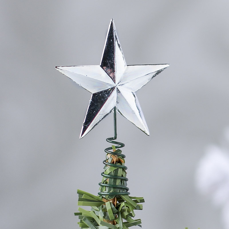 Miniature Silver Star Tree Topper