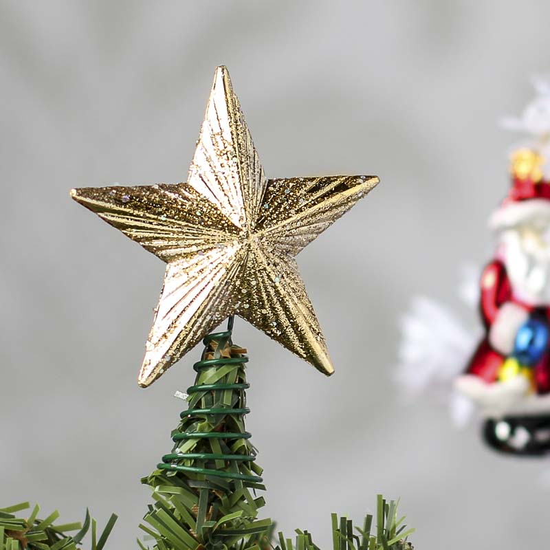 Small Gold Glitter Star Tree Topper - Trees and Toppers ...