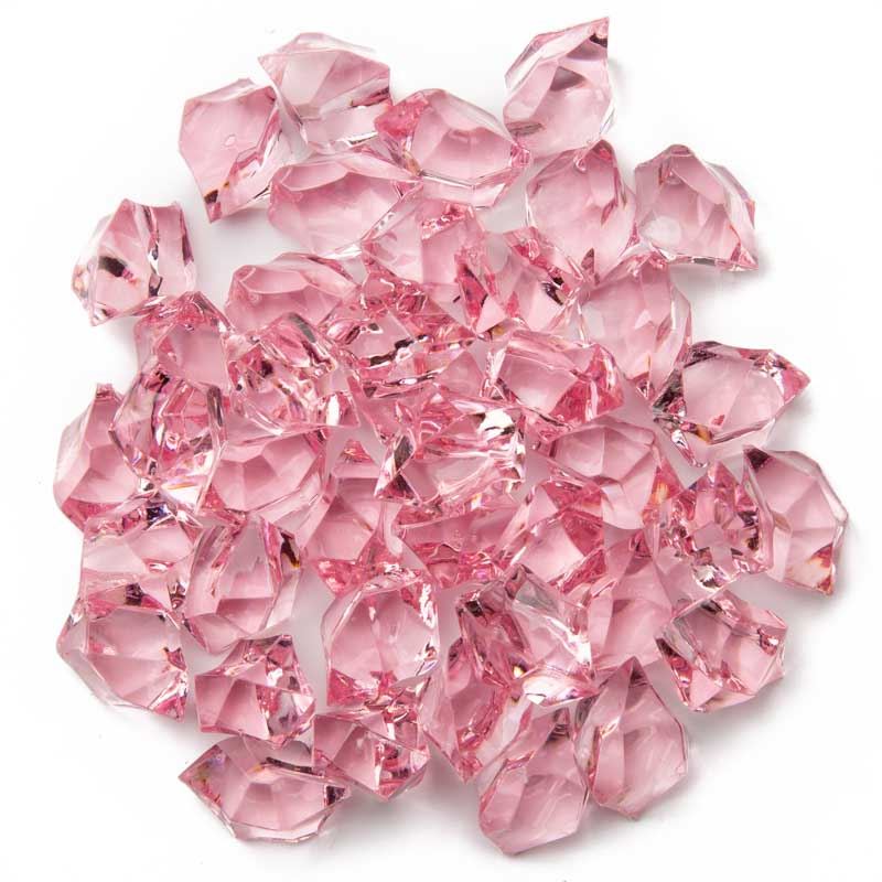 Pink Acrylic Ice Rock Gems Confetti Table Scatters Party