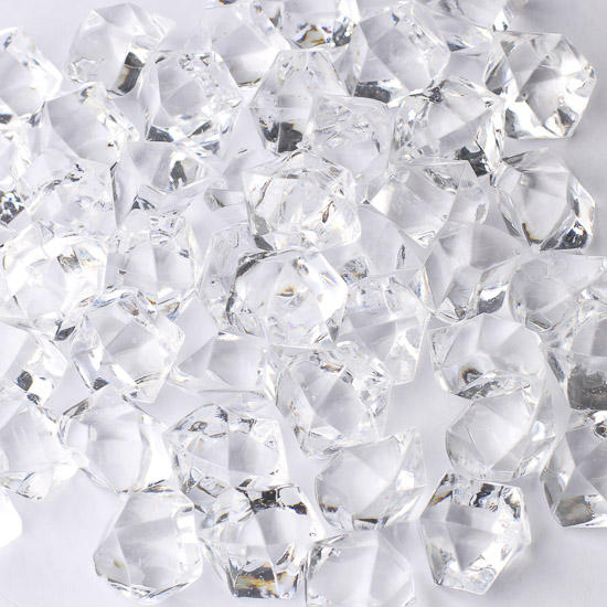 Clear Acrylic Ice Rock Gems Confetti Table Scatters