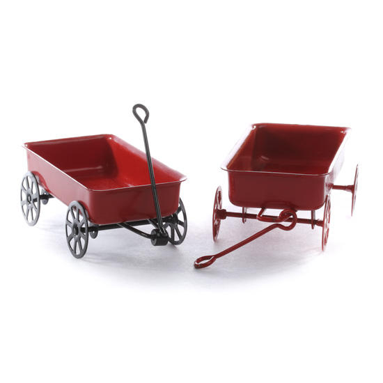 A 5 inch miniature of Radio Flyer's classic wagon. Faithfully reproduced with real working parts! It makes a unique gift item, desk accessory, cake topper, stocking stuffer, business card holder, even as a toy. The mini wagon is great for weddings, bar mitzvahs or other events to be used as favor or in a gift bag. Ages 3 years+ Weighs lbs.