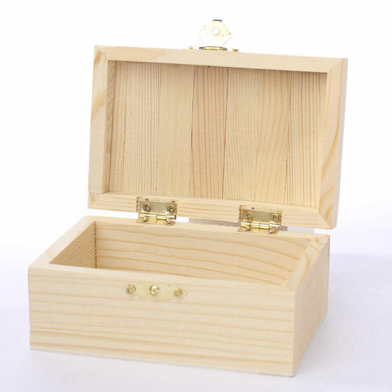 Unfinished wooden chest keepsake box baskets buckets