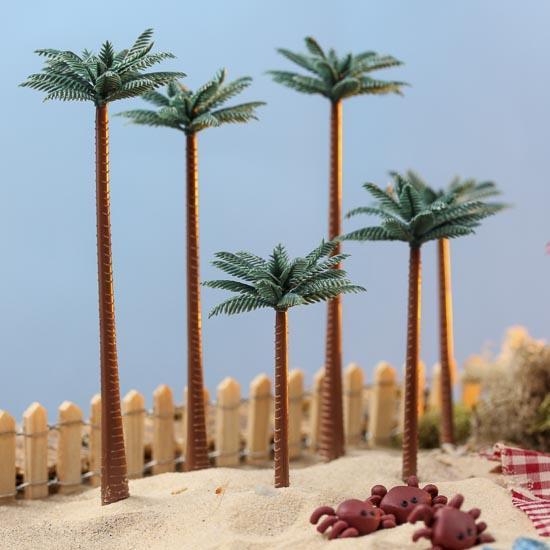 Very Miniature Artificial Palm Trees - Fairy Garden Miniatures  DM73