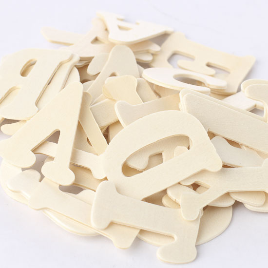 Unfinished wood letters word and letter cutouts for Wooden craft supplies online
