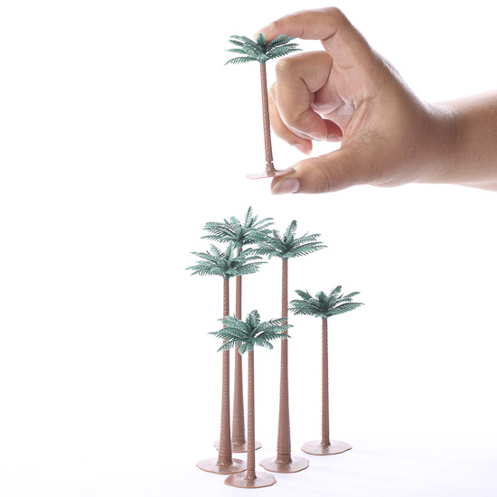 Miniature Artificial Palm Trees Fairy Garden Miniatures