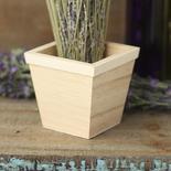 Unfinished Wood Flower Pot
