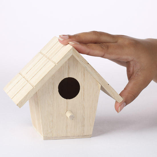 Unfinished wood birdhouse wood miniatures unfinished for Wood craft supply stores