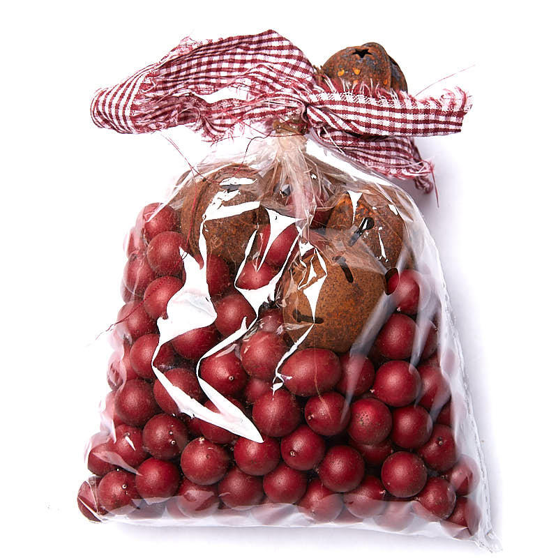 Bag of artificial cranberries primitive sale sales for Artificial cranberries decoration