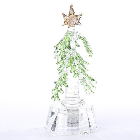 Miniature glass christmas tree table decor