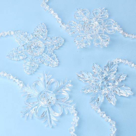 Acrylic snowflake garland christmas garlands