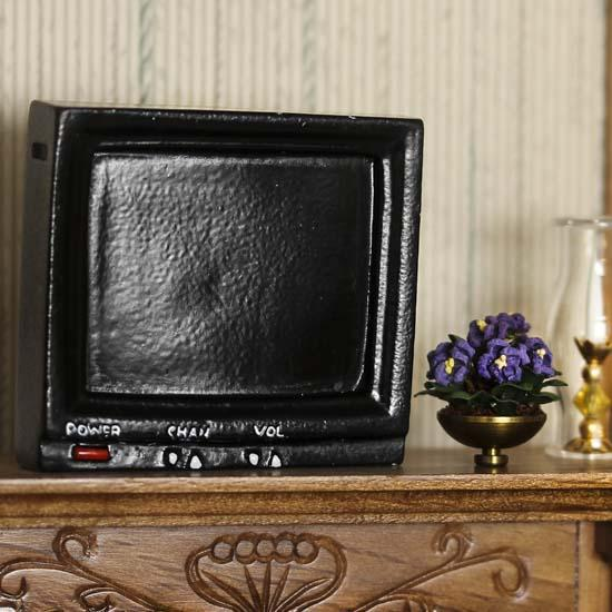Dollhouse Miniatures Tv: Miniature Television Set