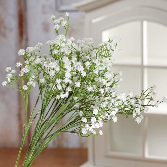 Artificial white gypsophila bundle picks and stems floral item 112536 artificial white gypsophila mightylinksfo
