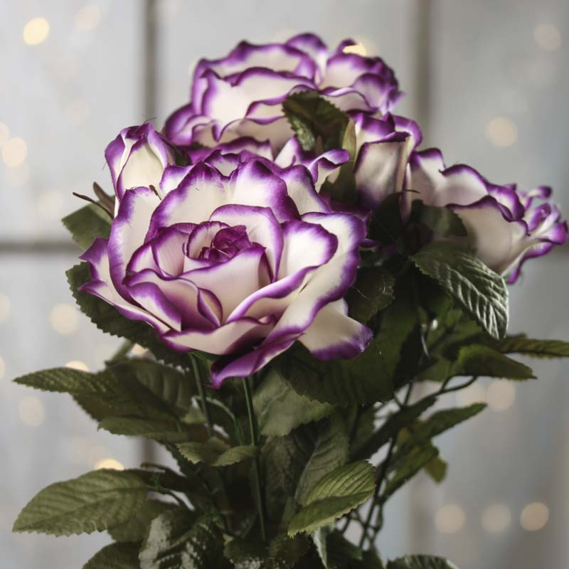 Purple Passion Artificial Rose Bush Bushes And Bouquets