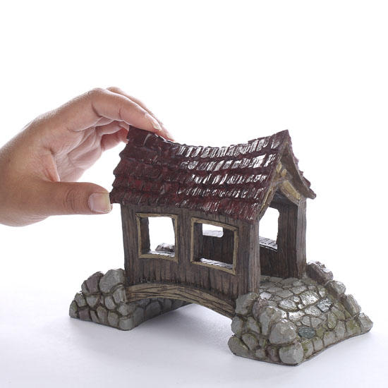 Miniature Covered Bridge Fairy Garden Supplies