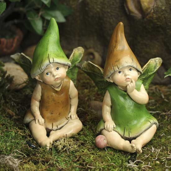 Baby Mushroom Fairies Fairy Garden Miniatures