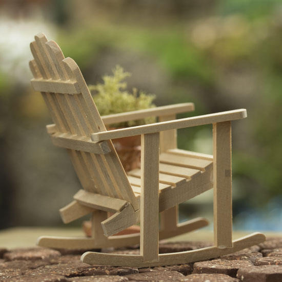 Miniature Adirondack Rocking Chair Fairy Garden Supplies