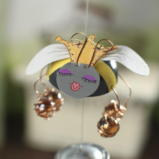 Queen Bee Wind Chime Signs Ornaments Home Decor