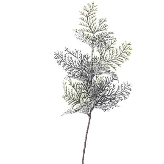 frosted artificial cedar spray