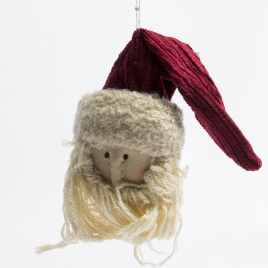 Primitive santa head ornament christmas ornaments